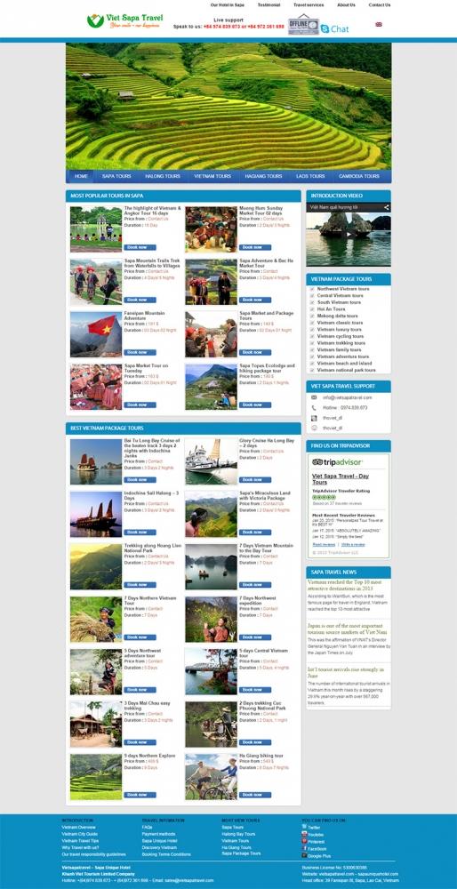 Thiết kế web du lịch Sapa