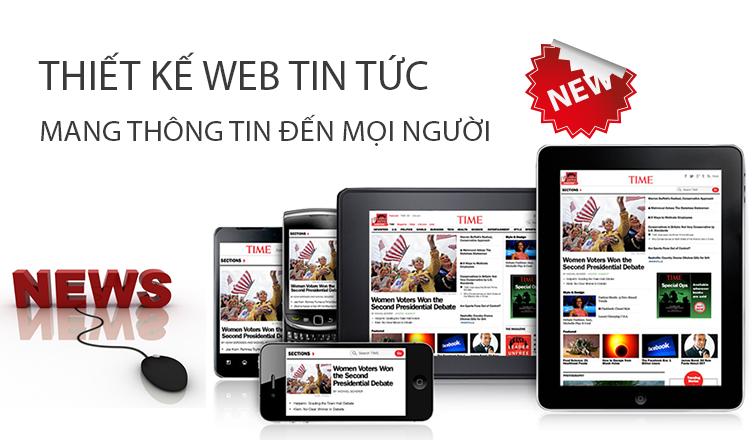Thiết kế website tin tức công ty triệu view